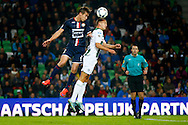 17-10-2015 VOETBAL:FC GRONINGEN-WILLEM II:GRONINGEN<br /> <br /> Stijn Wuytens van Willem II in duel met Jesper Drost<br /> <br /> Foto: Geert van Erven