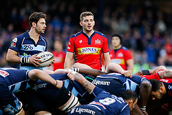 Bristol Rugby Scrum-Half Will Cliff looks on - Mandatory byline: Rogan Thomson/JMP - 19/12/2015 - RUGBY UNION - Goldington Road - Bedford, England - Bedford Blues v Bristol Rugby - B&I Cup.