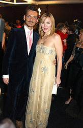 Actress KIM CATTRALL and MATTHEW WILLIAMSON at the Moet & Chandon Fashion Tribute 2005 to Matthew Williamson, held at Old Billingsgate, City of London on 16th February 2005.<br />