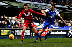Josh Brownhill of Bristol City is tackled by Myles Kenlock of Ipswich Town - Mandatory by-line: Robbie Stephenson/JMP - 30/12/2016 - FOOTBALL - Portman Road - Ipswich, England - Ipswich Town v Bristol City - Sky Bet Championship