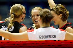 24.09.2011, Hala Pionir, Belgrad, SRB, Europameisterschaft Volleyball Frauen, Vorrunde Pool A, Deutschland (GER) vs. Ukraine (UKR), im Bild Jubel Deutschland - Margareta Kozuch (#14 GER / Sopot POL) // during the 2011 CEV European Championship, First round at Hala Pionir, Belgrade, SRB, 2011-09-24. EXPA Pictures © 2011, PhotoCredit: EXPA/ nph/  Kurth       ****** out of GER / CRO  / BEL ******