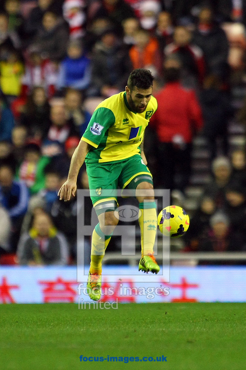 Picture by Paul Chesterton/Focus Images Ltd +44 7904 640267<br /> 21/12/2013<br /> Bradley Johnson of Norwich in action during the Barclays Premier League match at the Stadium Of Light, Sunderland.