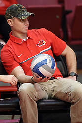18 November 2016:   during an NCAA women's volleyball match between the Northern Iowa Panthers and the Illinois State Redbirds at Redbird Arena in Normal IL (Photo by Alan Look)