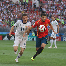 July 1, 2018 - Moscow, Russia - July 01, 2018, Russia, Moscow, FIFA World Cup 2018, the playoff round. Football match Spain - Russia at the stadium Luzhniki. Player of the national team Alexander Golovin. (Credit Image: © Russian Look via ZUMA Wire)