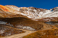 13, 114 foot (3997m) Imogene Pass, San Juan Mountains, southwest Colorado USA.
