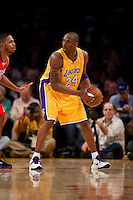 15 January 2010: Guard Kobe Bryant of the Los Angeles Lakers turns before shooting the ball against the Los Angeles Clippers during the first half of the Lakers 126-86 victory over the Clippers at the STAPLES Center in Los Angeles, CA.