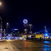 1 Januar 2015 klokken 00:01 i Vestre Strandgate i Kristiansand.