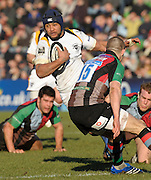 Twickenham, GREAT BRITAIN, Warriors, Sam TUITUPOU, during the Guinness Premiership match, Harlequins vs Worcester Warriors, played at the Twickenham Stoop on Sat. 16th Feb 2008.  [Mandatory Credit, Peter Spurrier/Intersport-images]