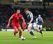 4th September 2017, Hampden Park, Glasgow, Scotland; World Cup Qualification, Group F; Scotland versus Malta; Scotland's James Forrest runs at Malta's Steve Borg