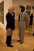 OLE FAARUP AND CHRIS OFILI, Private view and dinner for the opening of the Peter Doig exhibition. Tate Britain. Millbank. London. 4 February 2008.  *** Local Caption *** -DO NOT ARCHIVE-© Copyright Photograph by Dafydd Jones. 248 Clapham Rd. London SW9 0PZ. Tel 0207 820 0771. www.dafjones.com.