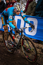 Kevin PAUWELS (4,BEL), 5th lap at Men UCI CX World Championships - Hoogerheide, The Netherlands - 2nd February 2014 - Photo by Pim Nijland / Peloton Photos
