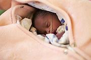A baby boy on oxygen in Mulago hospital, Uganda.