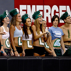 Sep 11, 2010; New Orleans, LA, USA; Tulane Green Wave fans in the stands during a game against the Mississippi Rebels at the Louisiana Superdome. The Mississippi Rebels defeated the Tulane Green Wave 27-13.  Mandatory Credit: Derick E. Hingle