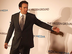 'The Frozen Ground' London Premiere.<br /> Nicolas Cage arrives at the Premiere of his latest film ''The Frozen Ground', in London's Leicester Square,<br /> London, United Kingdom<br /> Wednesday, 17th July 2013<br /> Picture by Max Nash / i-Images
