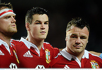 1 June 2013; British & Irish Lions and Leinster players, from left, Jamie Heaslip, Jonathan Sexton and Cian Healy ahead of the game. British & Irish Lions Tour 2013, Barbarians v British & Irish Lions, Hong Kong Stadium, So Kon Poh, Hong Kong, China. Picture credit: Stephen McCarthy / SPORTSFILE