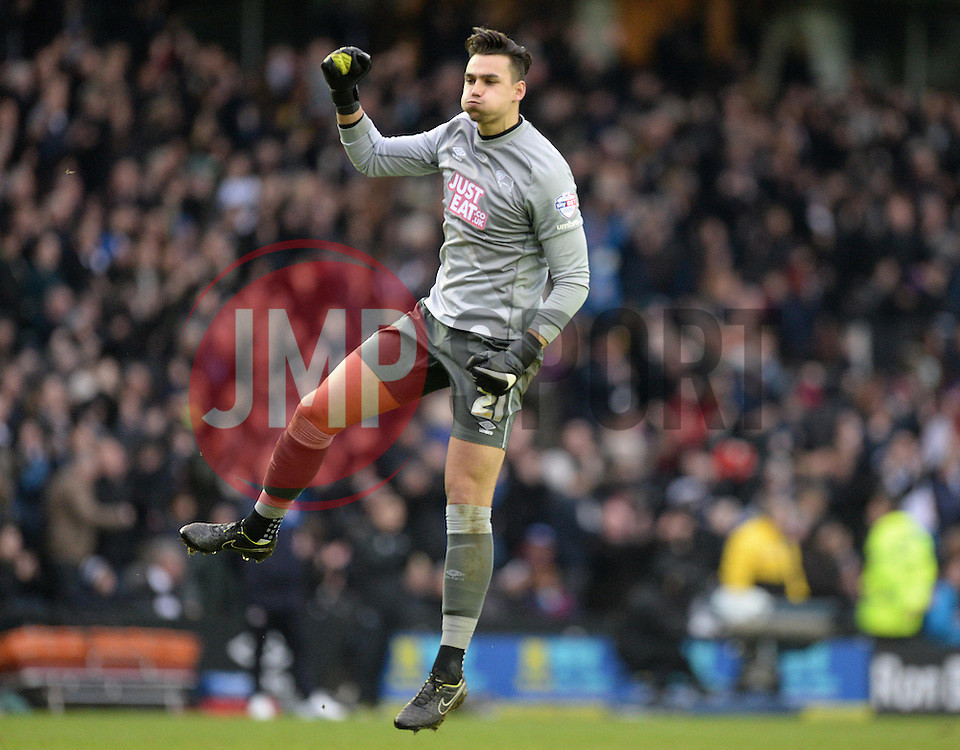 Derby County's Kelle Roos celebrates Derby's goal.  - Photo mandatory by-line: Alex James/JMP - Mobile: 07966 386802 - 14/02/2015 - SPORT - Football - Derby  - ipro stadium - Derby County v Reading - FA Cup - Fifth Round