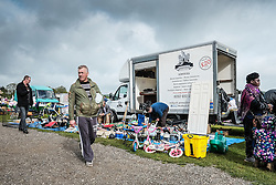 People at a car boot sale in Essex.
