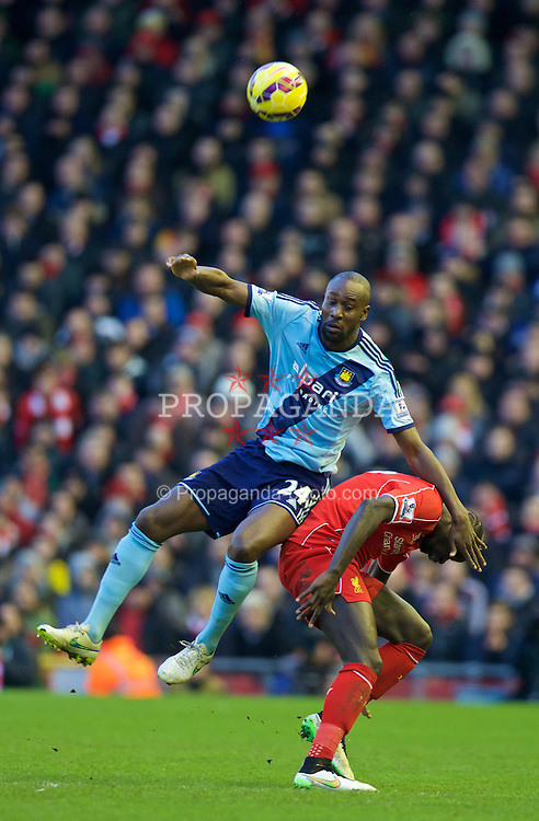 LIVERPOOL, ENGLAND - Saturday, January 31, 2015: West Ham United's Carlton Cole during the Premier League match against Liverpool at Anfield. (Pic by David Rawcliffe/Propaganda)