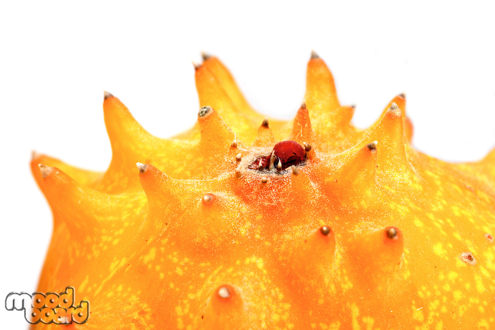 Close up of kiwano - studio shot