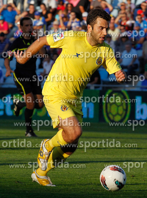 15.10.2011, Coliseum Alfonso Perez, Getafe, ESP, Primera Division, FC Getafe vs FC Villarreal, im Bild Villareal's Giuseppe Rossi // during Primera Division football match between FC Getafe and FC Villarreal at Coliseum Alfonso Perez, Getafe, Spain on 15/10/2011. EXPA Pictures © 2011, PhotoCredit: EXPA/ Alterphoto/ Acero +++++ ATTENTION - OUT OF SPAIN/(ESP) +++++
