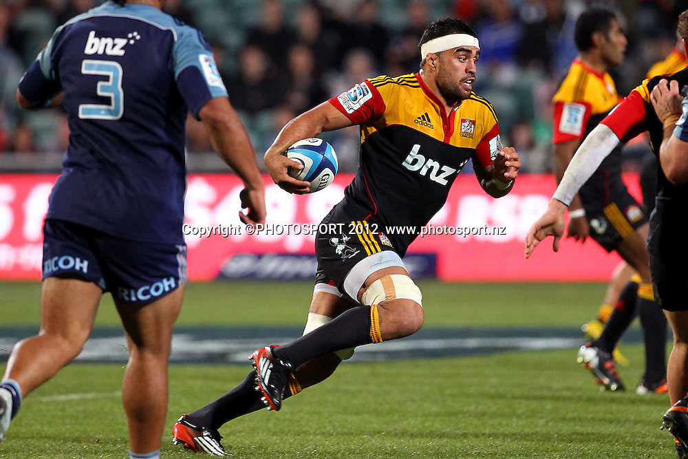 Chiefs' Liam Messam in action. Super Rugby rugby union match, Blues v Chiefs at North Harbour Stadium, Auckland, New Zealand. Saturday 2nd June 2012. Photo: Anthony Au-Yeung / photosport.co.nz