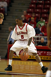 08 January 06  Khalif Ford working the perimiter.....The Illinois State Redbirds come up short against the Witchita State Shockers.  The Shockers put on a 2nd half show that left the Redbirds trailing 56 - 47 at the bell.  Dana Ford of the Redbirds matched his career high with 16 points, adding 7 boards and 4 steals.....Redbird Arena, Illinois State University  campus, Normal, Illinois
