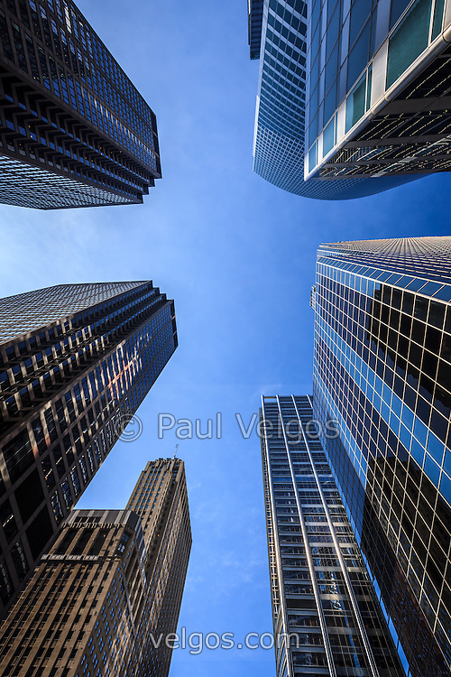 Chicago skyscrapers looking upward to the sky buy canvas prints large wall art and stock photos - Ey chicago office address ...