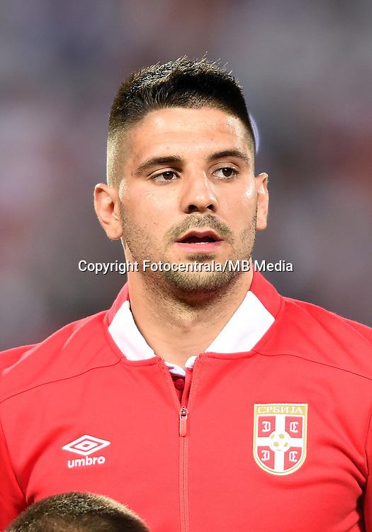 Aleksandar Mitrovic, Serbia vs Wales. World Cup qualifications<br /> Belgrade 11.06.2017