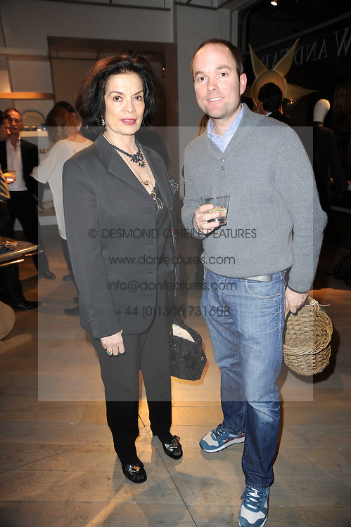BIANCA JAGGER and HUGO CHITTENDEN at reception to raise funds for a Ugandan School Project supported by the Henry van Straubenzee Memorial Fund held at Few & Far, 242 Brompton Road, London SW3 on 11th February 2010.