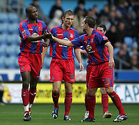 Photo: Lee Earle.<br /> Coventry City v Crystal Palace. Coca Cola Championship. 13/01/2007. Carl Fletcher (R) congratulates Leon Cort after he scored the third goal for Palace.