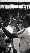 P T Usha and coach Nambiar at the National Games in Mangalore, held sometime in mid 80s