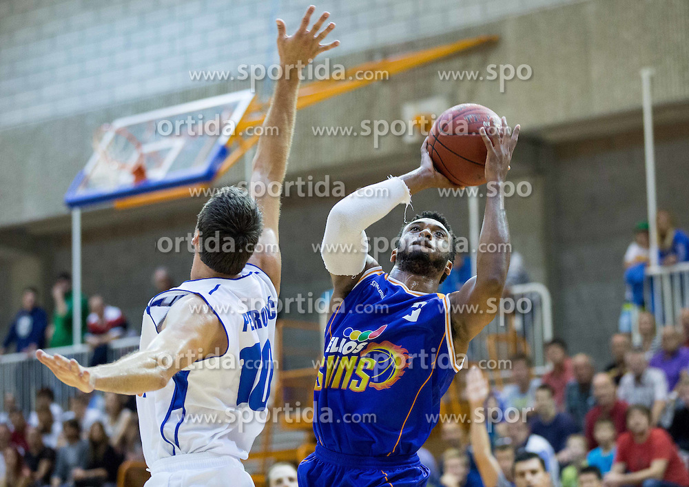 Zena Ray Upshaw of Helios during basketball match between KK Splosna plovba Portoroz and KK Helios Suns in Round 1 of Telemach League 2014/15, on October 11, 2014 in Lucija Sports hall, Portoroz, Slovenia. Photo by Vid Ponikvar / Sportida.com