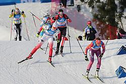 11.03.2016, Holmenkollen, Oslo, NOR, IBU Weltmeisterschaft Biathlon, Oslo, 4x6 Km Staffel, Damen, im Bild Susan Dunklee (USA), Magdalena Gwizdon (POL), Julia Ransom (CAN) // during 4x6 km women relay of the IBU World Championships, Oslo 2016 at the Holmenkollen in Oslo, Norway on 2016/03/11. EXPA Pictures © 2016, PhotoCredit: EXPA/ Newspix/ Tomasz Jastrzebowski<br /> <br /> *****ATTENTION - for AUT, SLO, CRO, SRB, BIH, MAZ, TUR, SUI, SWE only*****