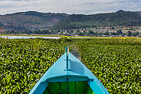 landscape view boat of the Inle Lake Shan state in Myanmar (Burma)
