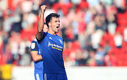 Maxime Colin of Birmingham City celebrates with the fans at the final whistle - Mandatory by-line: Arron Gent/JMP - 14/09/2019 - FOOTBALL - The Valley - Charlton, London, England - Charlton Athletic v Birmingham City - Sky Bet Championship