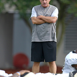July 28, 2012; Metairie, LA, USA; New Orleans Saints assistant head coach and linebackers coach Joe Vitt during a training camp practice at the team's practice facility. Mandatory Credit: Derick E. Hingle-US PRESSWIRE