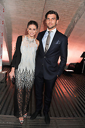 OLIVIA PALERMO and JOHANNES HUEBL at a private view of 'Valentino: Master Of Couture' at Somerset House, London on 28th November 2012.