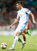Slovakia's Michal Duris during 15th UEFA European Championship Qualifying Round match. September 5,2015.(ALTERPHOTOS/Acero)