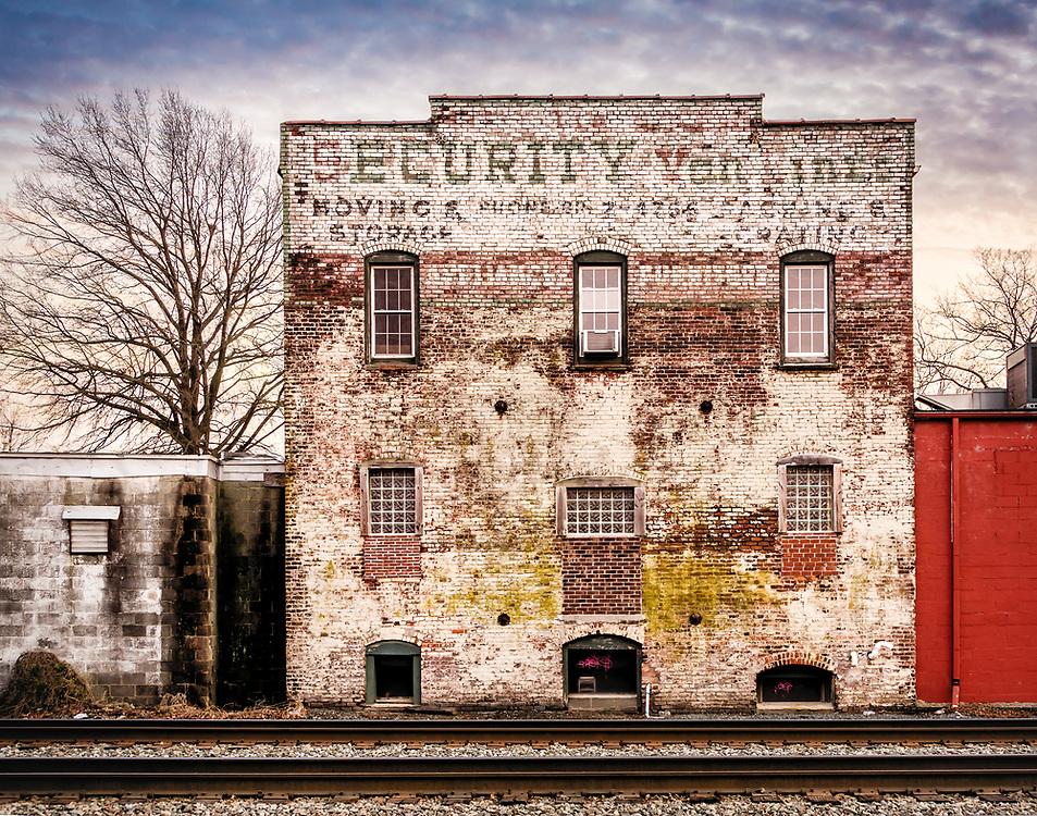 The old Security Van Lines building in downtown Greensboro, NC, has been restored and is now a resturant.