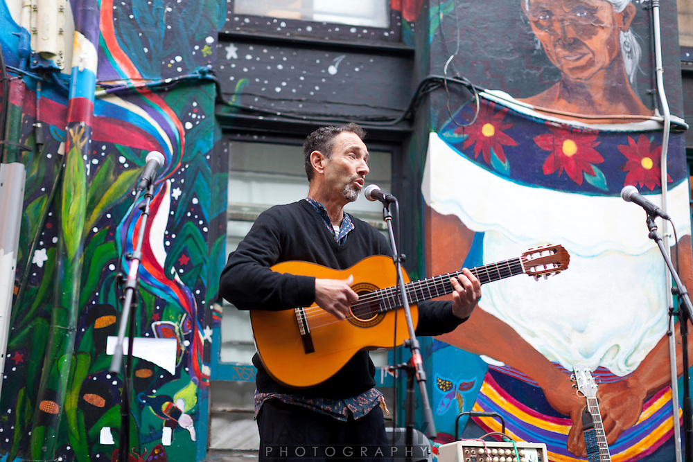 Jonathan Richman talks at the San Francisco International Poetry Festival...photo by Jason Doiy