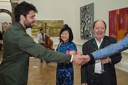 CONRAD SHAWCROSS; MIYAKO NARITA; RICHARD WILSON, Royal Academy Summer exhibition private view. Piccadilly. London. 3 June 2015