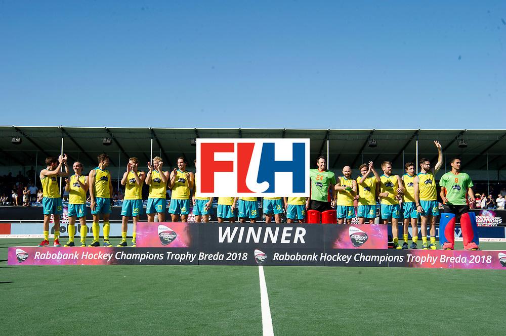 BREDA - Rabobank Hockey Champions Trophy<br /> Final Australia - India<br /> Australia won after shoot outs.<br /> Photo: Team picture Australia.<br /> COPYRIGHT WORLDSPORTPICS FRANK UIJLENBROEK