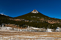 Estes Cone - East Side of Rocky Mountain National Park from Colorado Highway 7. Image taken with a Nikon D300 camera and 17-35 mm f/2.8 lens (ISO 200, 35 mm, f/22, 1/60 sec).