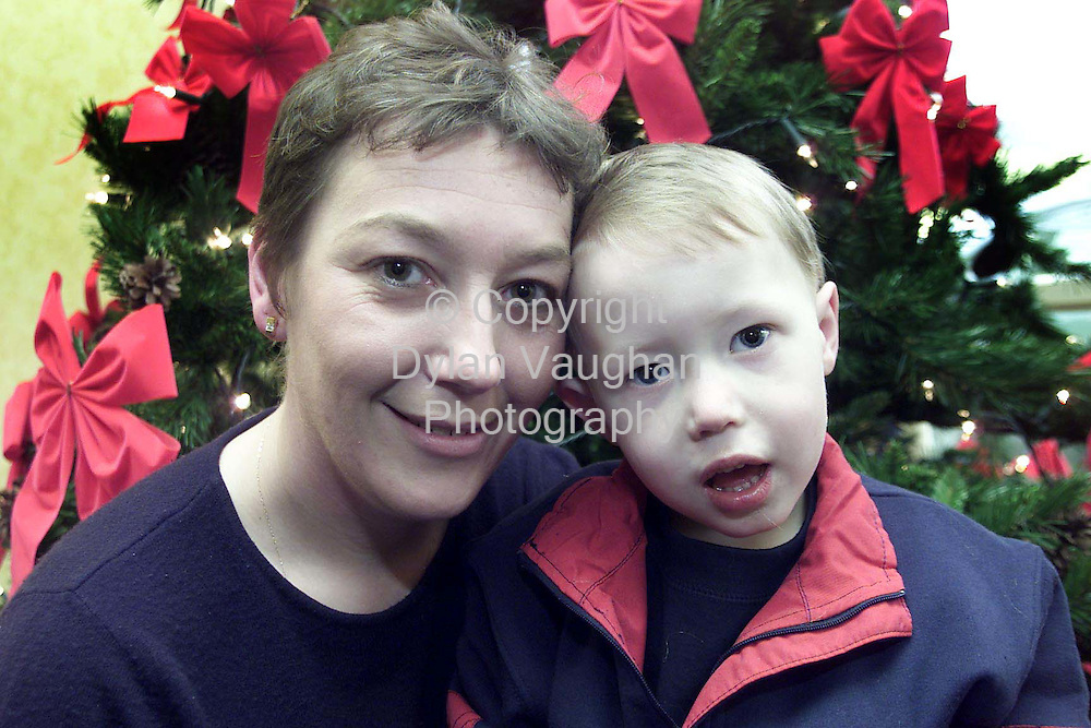 5/12/2002 .Susan Maher and her son Bobby pictured just before Christmas 2001.Susan was killed in a car crash in Kilkenny earlier this week..Picture Dylan Vaughan