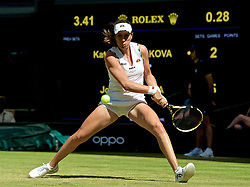 LONDON, ENGLAND - Thursday, July 4, 2019: Johanna Konta (GBR) during the Ladies' Singles second round match on Day Four of The Championships Wimbledon 2019 at the All England Lawn Tennis and Croquet Club. Konta won 6-3, 6-4. (Pic by Kirsten Holst/Propaganda)