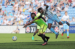 Junior Morias of Peterborough United in action with Gael Bigirimana of Coventry City - Mandatory by-line: Joe Dent/JMP - 08/04/2017 - FOOTBALL - Ricoh Arena - Coventry, England - Coventry City v Peterborough United - Sky Bet League One