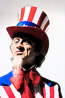 An illustrative portrait of Uncle Sam.