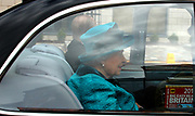 EXCLUSIVE - PRINCE PHILIP AND THE QUEEN IN THE BACK OF THE STATE LIMO LEAVING LEICESTER. HOWEVER, THERE IS A COPY OF THE AA ROAD ATLAS IN THE BACK CLEARLY VISIBLE NEXT TO THEM. DOES THE  QUEEN USE THE AA GUIDE TO GET AROUND!<br />