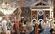 Piero Della Francesca 1416-1417 -1492 . Discovery and Proof of the True Cross; Fresco, at San Francesco, Arezzo. Circa 1460