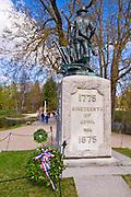 Minute Man statue at the Old North Bridge, Minute Man National Historic Park, Massachusetts